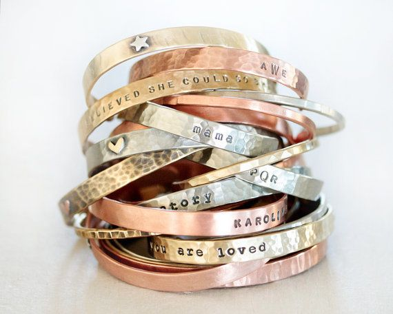 "Customized cuffs, $62, <a href=""https://www.etsy.com/listing/249331799/personalized-gift-birthday-gift?ref=finds_l"" target=""_"
