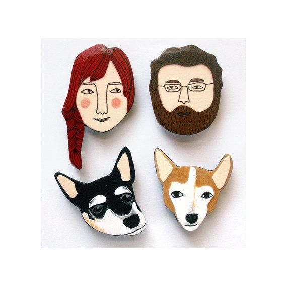 "Custom face magnets, $22.50, <a href=""https://www.etsy.com/listing/223447179/custom-face-magnets-preorder-for-2017?ref=finds_"