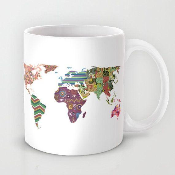 "$20, iQ Studio. <a href=""https://www.etsy.com/listing/249533909/world-map-mug-tea-mug-world-map-travel?ga_order=most_relevant"