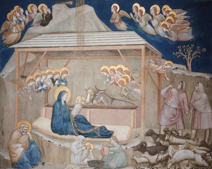 Pope Francis chose this image painted by the Italian artist Giotto for his Christmas card this year.