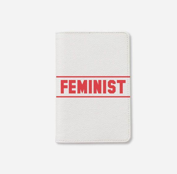 "$18, Wanderlust Cover. <a href=""https://www.etsy.com/listing/463975900/feminist-passport-holder-leather?ga_order=most_relevan"