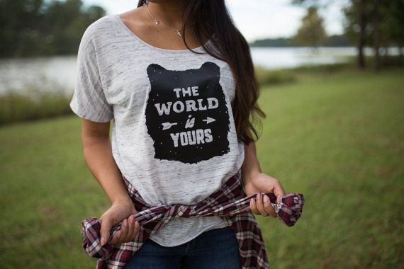 "$24, The Plaid Deer. <a href=""https://www.etsy.com/listing/470281982/wanderlust-shirt-statement-shirt-gift?ga_order=most_rele"