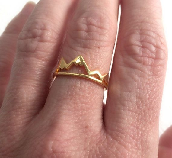 """$14, 3 Bead Designs. <a href=""""https://www.etsy.com/listing/448687224/gold-mountain-ring-adjustable-band?ga_order=most_relevan"""
