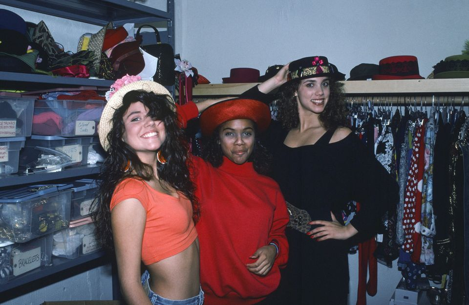 SAVED BY THE BELL -- Pictured: (l-r) Tiffani Thiessen, Lark Voorhies, Elizabeth Berkley -- Photo by: Alice S. Hall/NBCU Photo