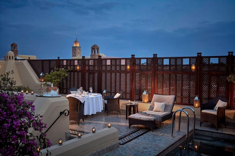 A rooftop view at the Royal Mansour.