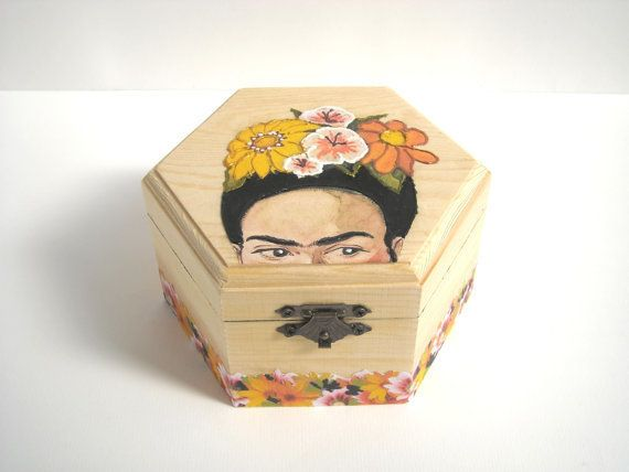 """$43.09, be Mimes. <a href=""""https://www.etsy.com/listing/236706063/frida-kahlo-wooden-jewelry-box-hand?ref=related-1"""" target="""""""