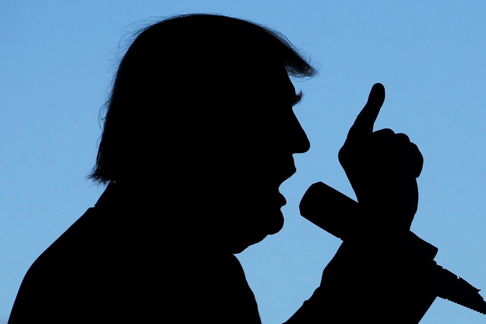 Donald Trumpat a campaign rally in Grand Junction, Coloradoon Oct. 18.