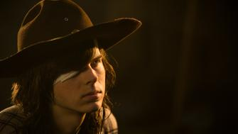 >>> NOT TO BE USED UNTIL 10/24/16 at 1:00 AM EST <<< Chandler Riggs as Carl Grimes- The Walking Dead _ Season 7, Episode 1 - Photo Credit: Gene Page/AMC