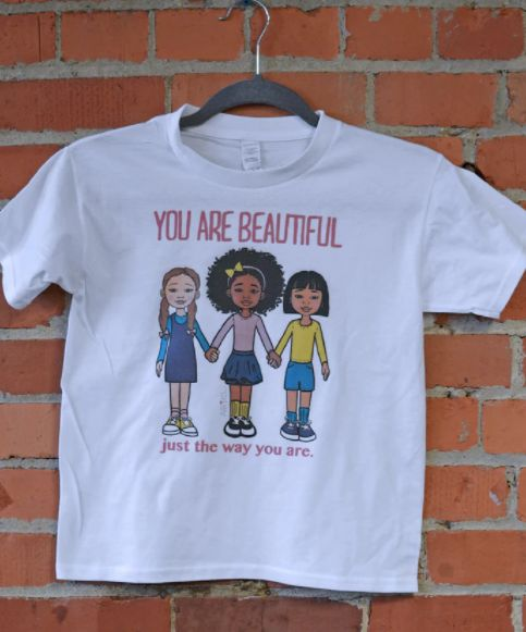 "This positive message T-shirt comes in toddler, youth sizes, and an infant romper. <a href=""http://www.arielbrands.com/produc"