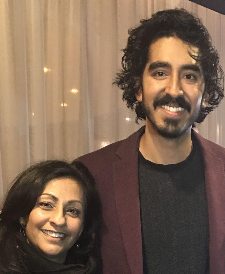 Gabriella van Rij and Dev Patel at the LA premier of Lion (2016)