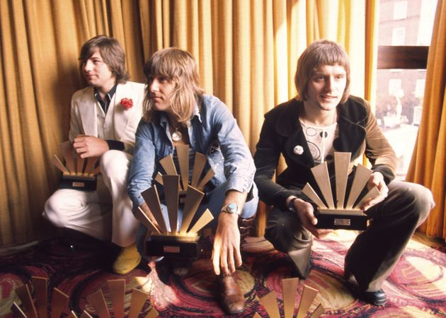 Emerson Lake & Palmer photographed in 1972. (L-R) Greg Lake, Keith Emerson and Carl
