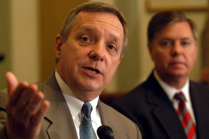 Sens. Dick Durbin (D-Ill.) and Lindsey Graham (R-S.C.) worked together on a comprehensive immigration reform bill in 2013.
