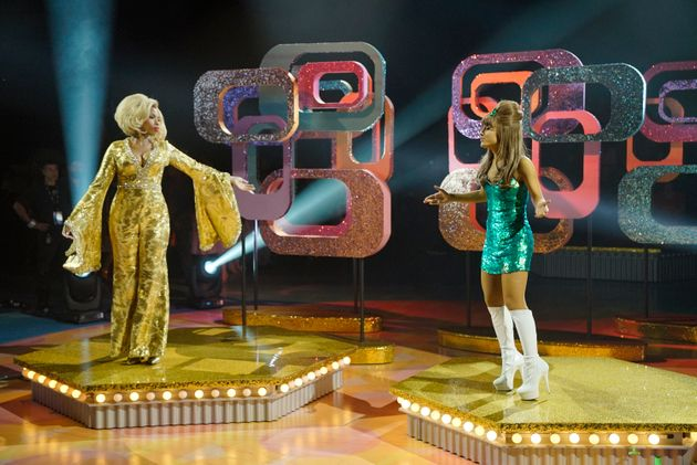 Jennifer Hudson as Motormouth Maybelle and Ariana Grande as Penny Pingleton in NBC's