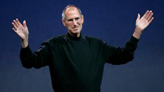 ** FILE ** In this Sept. 9, 2008 file photo, Apple Inc. CEO Steve Jobs waves goodbye after a product announcement in San Francisco. Shares of Apple Inc. fell 4 percent Thursday, Jan. 15, 2009, as investors struggled to parse the latest disclosure from Jobs about his health and his need to go on leave until the end of June. (AP Photo/Paul Sakuma, file)