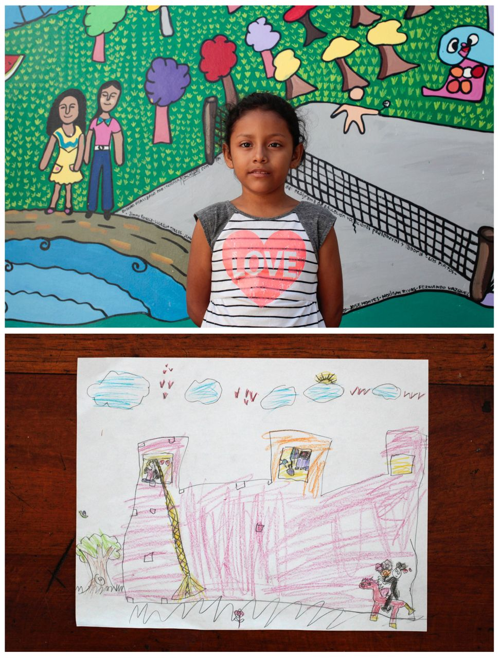 <strong>Onari Abigail, 8, from Managua, Nicaragua: </strong>Onari wants a castle full of princes and princesses.