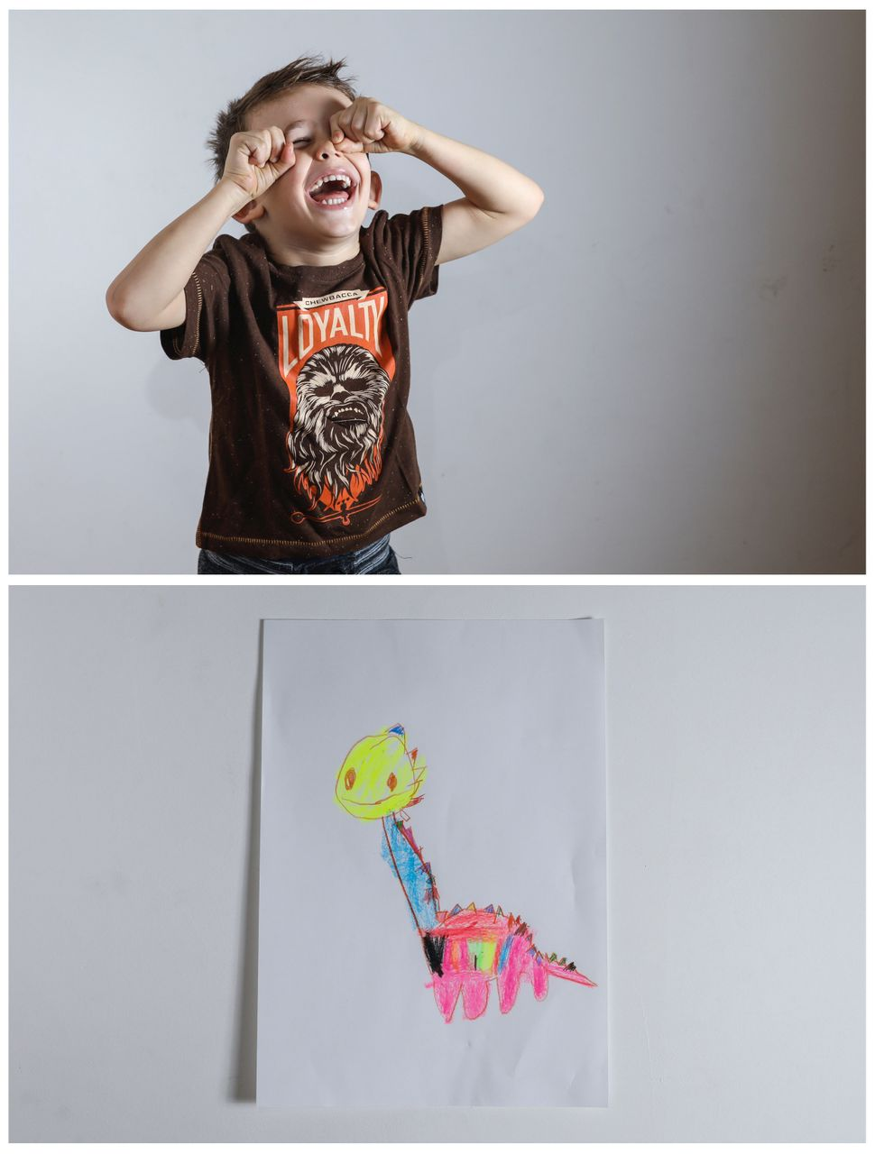 <strong>Maxim, 4, from Belgrade, Serbia:</strong> Maxim would like to get a plastic dinosaur.