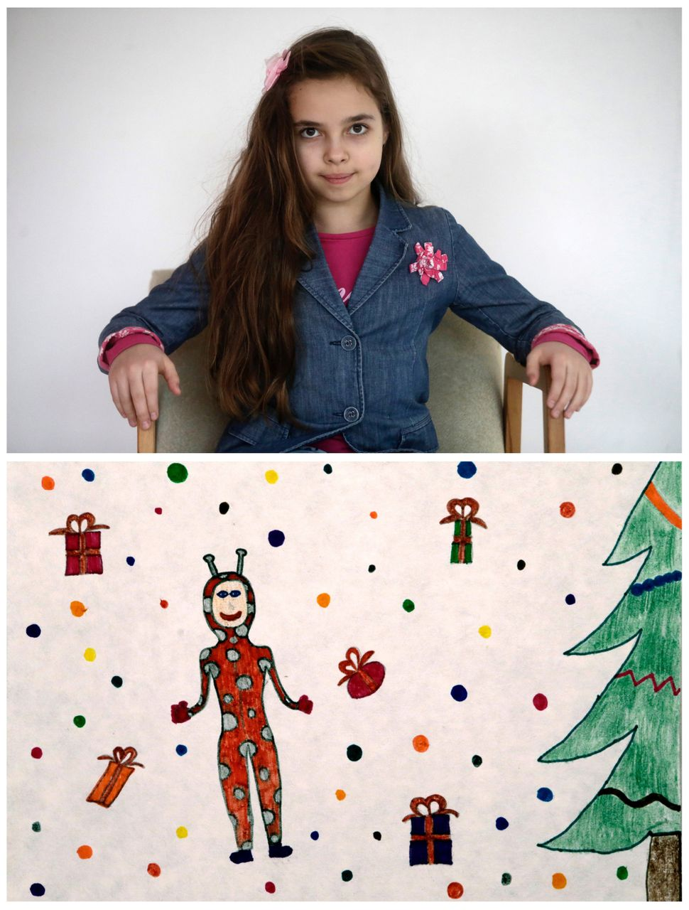 "<strong>Dana Augustane, 10, from Riga, Latvia:</strong> ""I want to ask Santa to bring me a pyjama (sic) like my best fri"