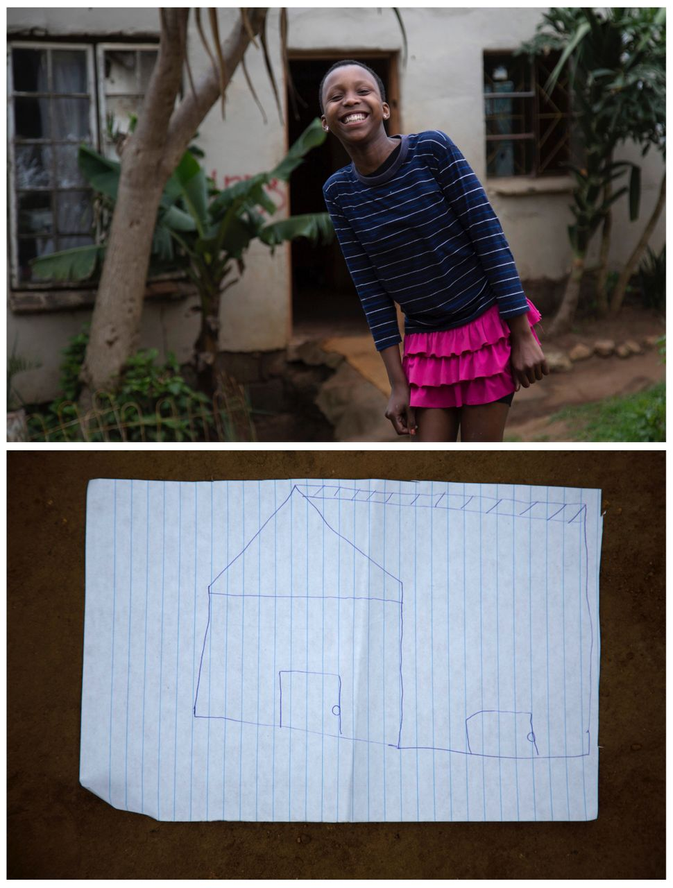 <strong>Khanyo Mchunu, 13, from Embo, South Africa:</strong> Khanyo wants a house.