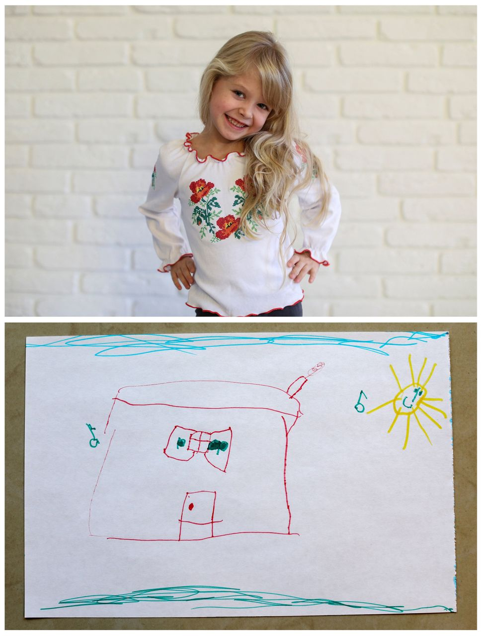 <strong>Diana Zhaldak, 4, from Kiev, Ukraine:</strong> Diana wants a magical, musical house where she can play.