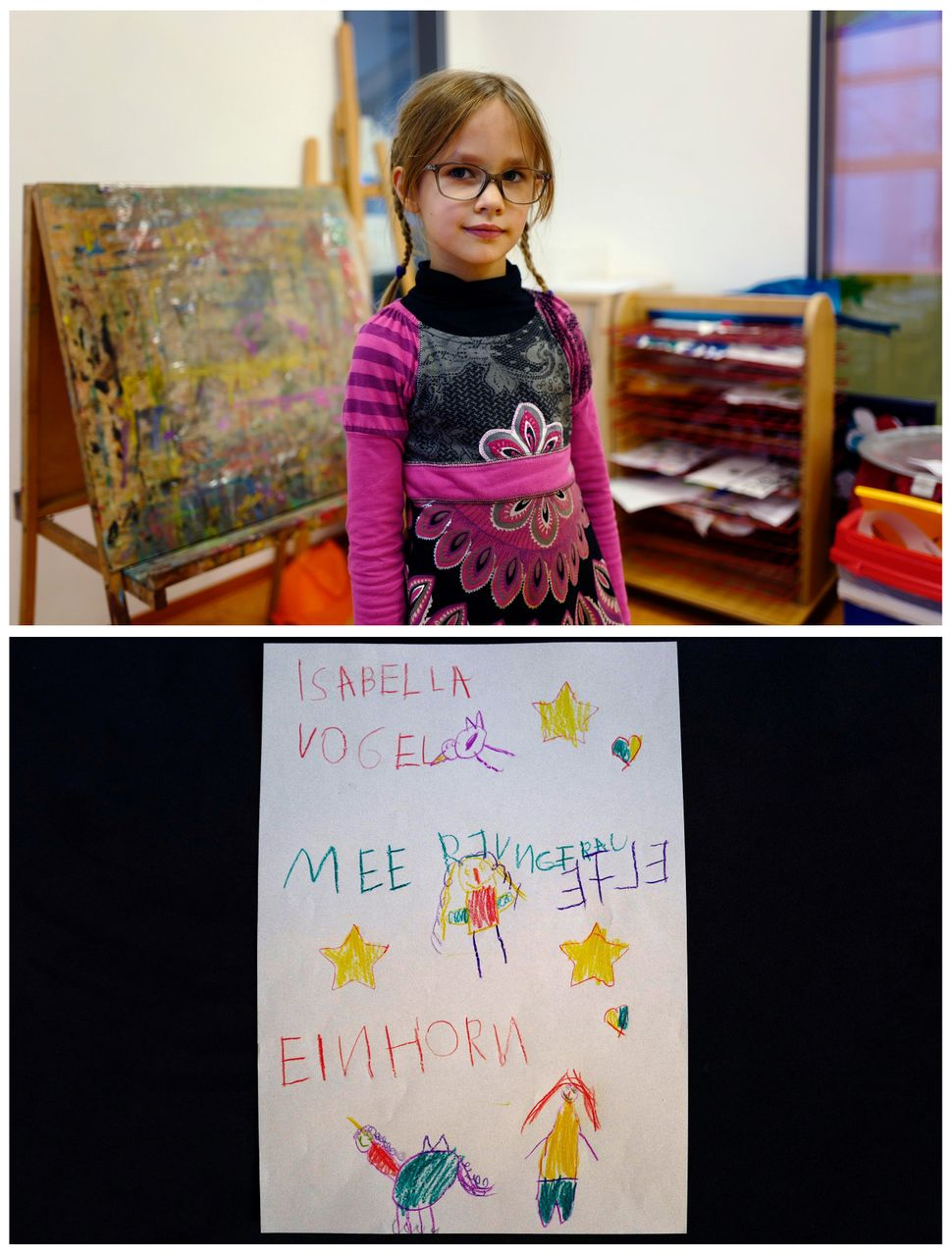 <strong>Isabella Grunewald, 5, from Hanau, Germany:</strong> Isabella hopes for a living bird as a pet and also a mermai