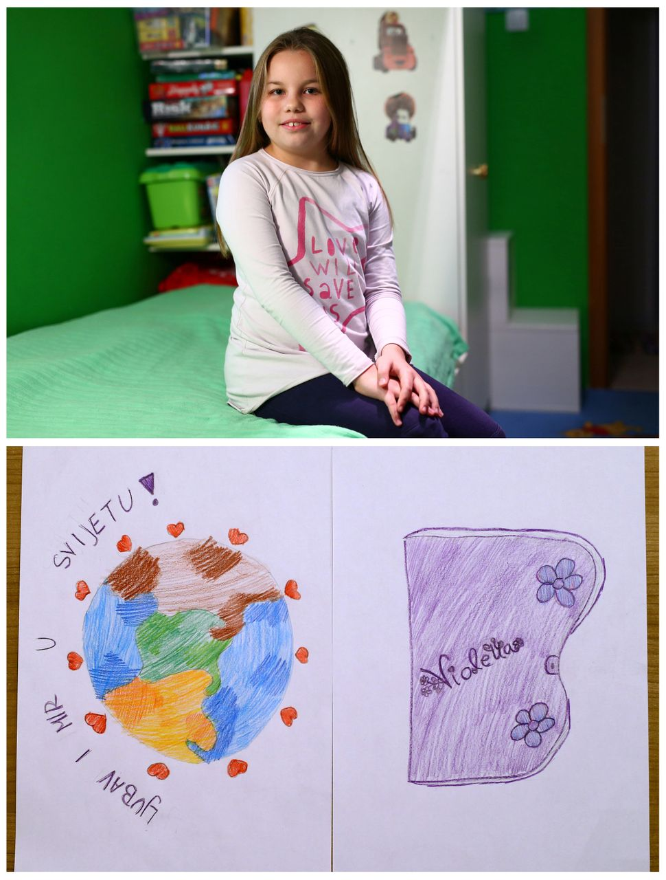 "<strong>Dora Stanzl, 8, from Zagreb, Croatia:</strong> Dora would like ""love and peace in the world"" as well as a diary."