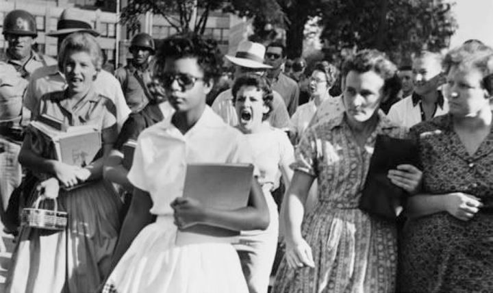 Hazel Bryan and Elizabeth Eckford, Little Rock, Arkansas, September 1957