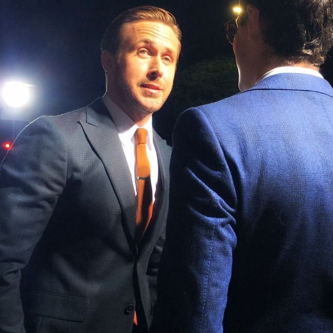 Ryan Gosling at the Los Angeles premiere of LaLa Land.