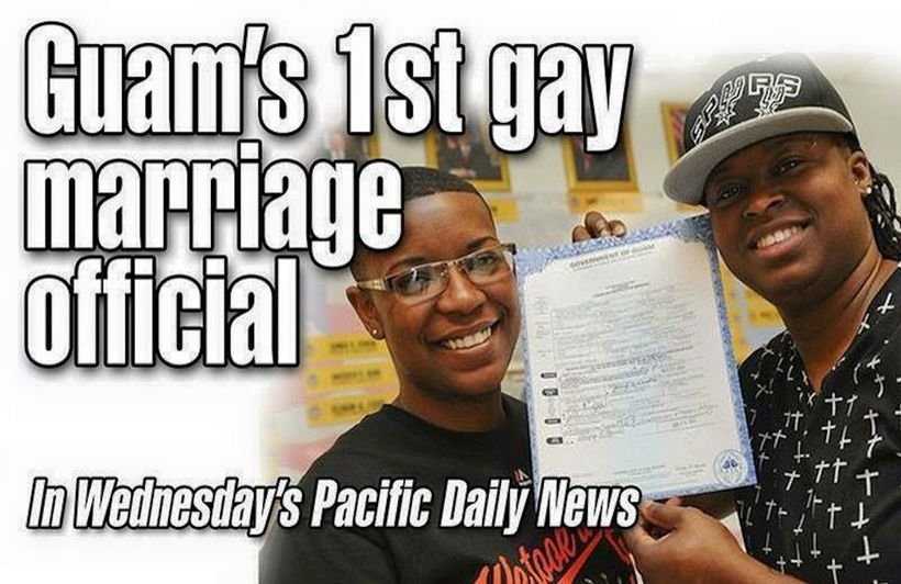 Guam's 1st official gay marriage.