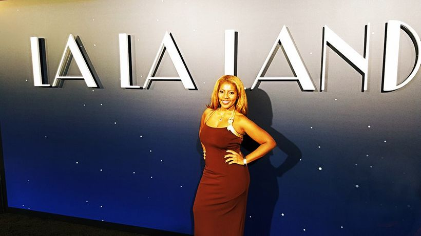 Me—on the red carpet at the LaLa Land movie premiere in Los Angeles.