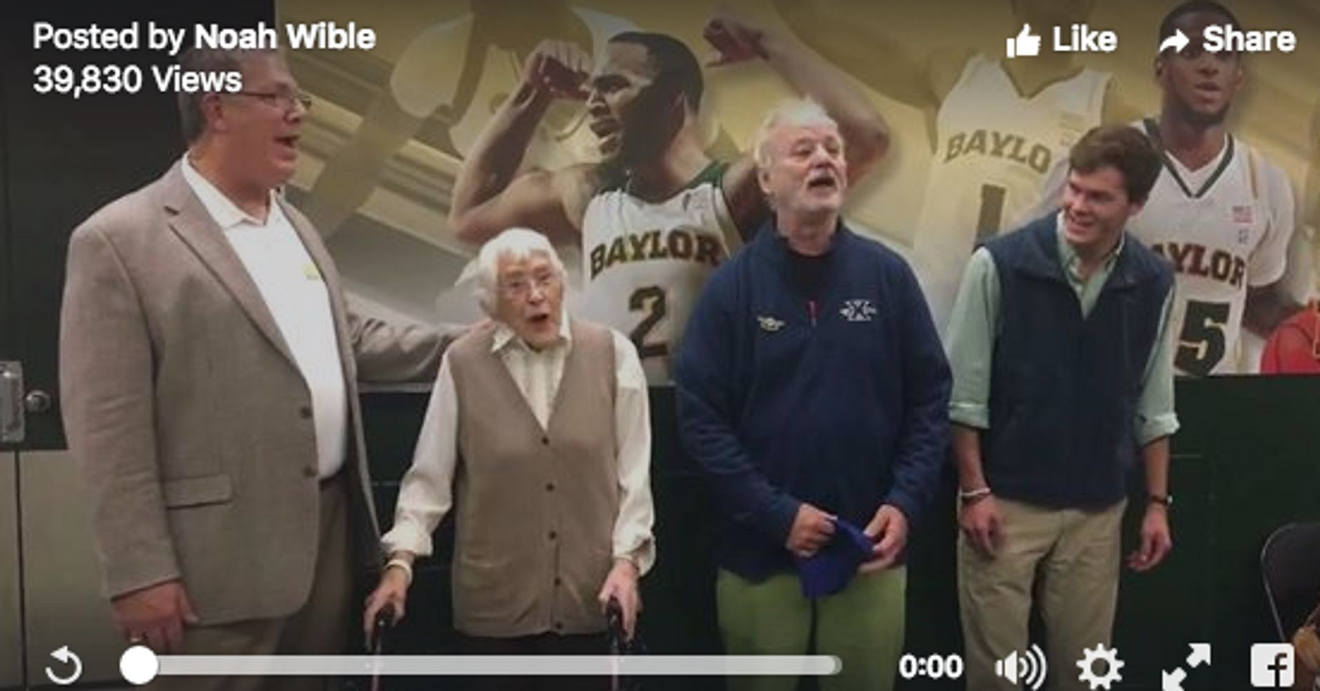 Bill Murray sings 'Happy Birthday' to happiest 94-year-old ...