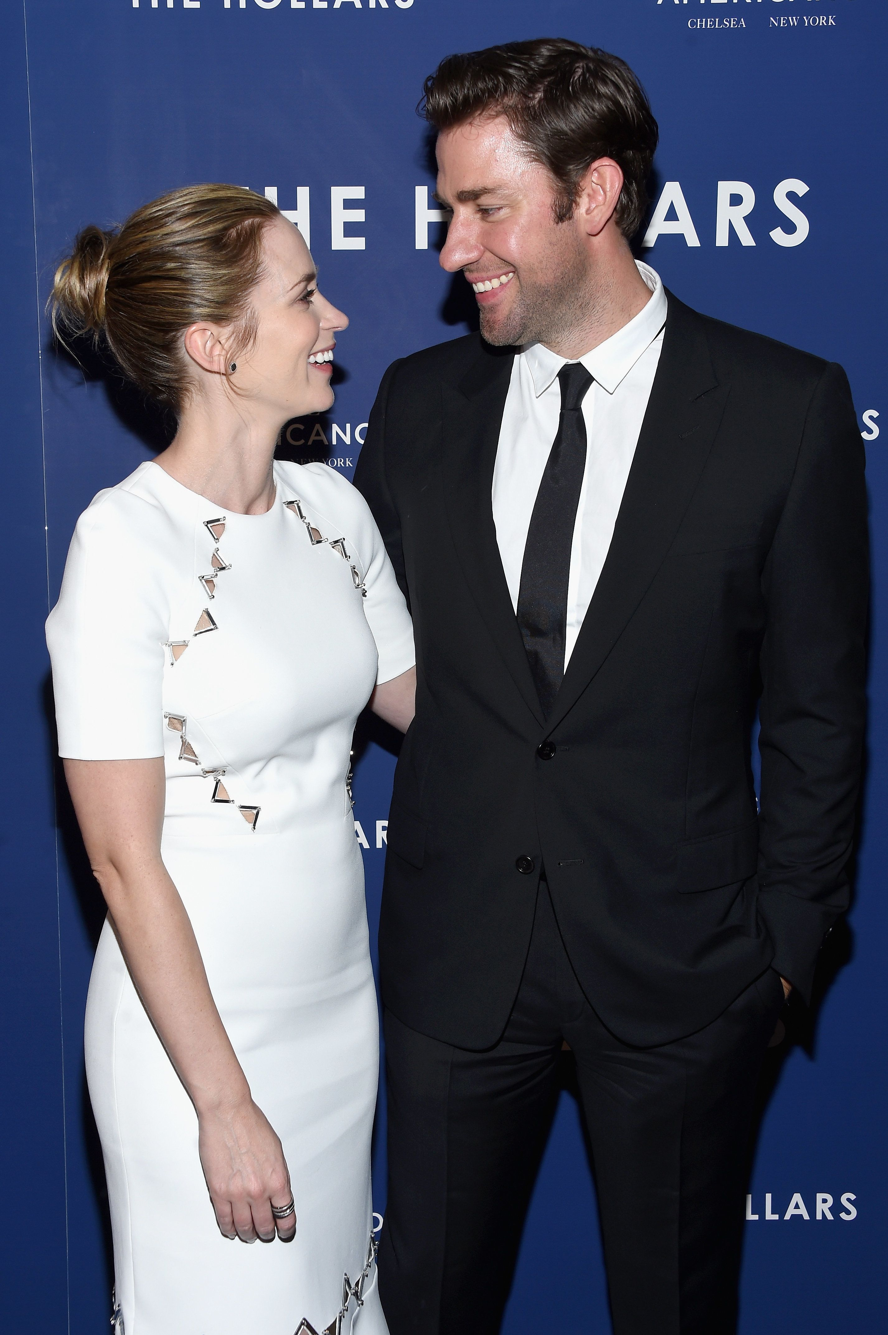 NEW YORK, NY - AUGUST 18:  Emily Blunt and John Krasinski attend 'The Hollars' New York Screening at Cinepolis Chelsea on August 18, 2016 in New York City.  (Photo by Dimitrios Kambouris/Getty Images)