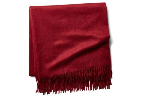 "Cashmere throw, $119, <a href=""https://www.onekingslane.com/p/4504218-cashmere-throw-bourgogne"" target=""_blank"">One Kings Lan"