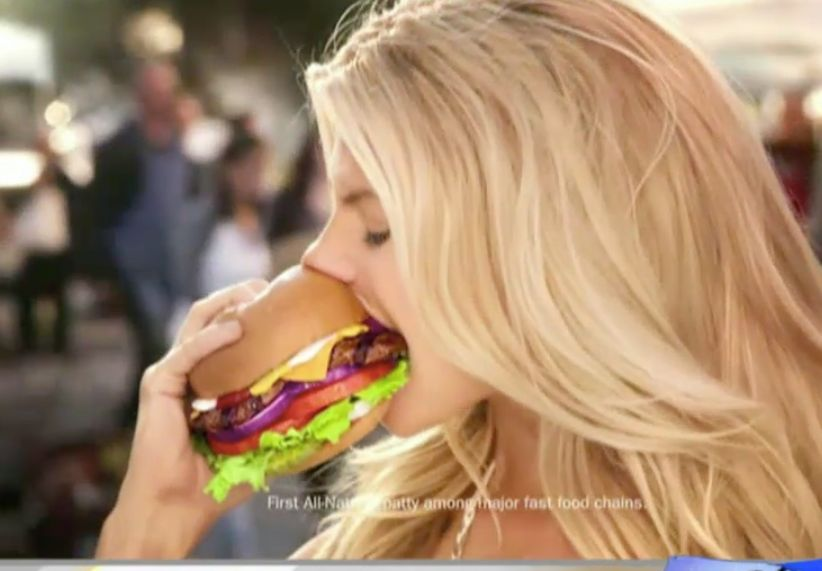 Kate Upton sure can eat a burger