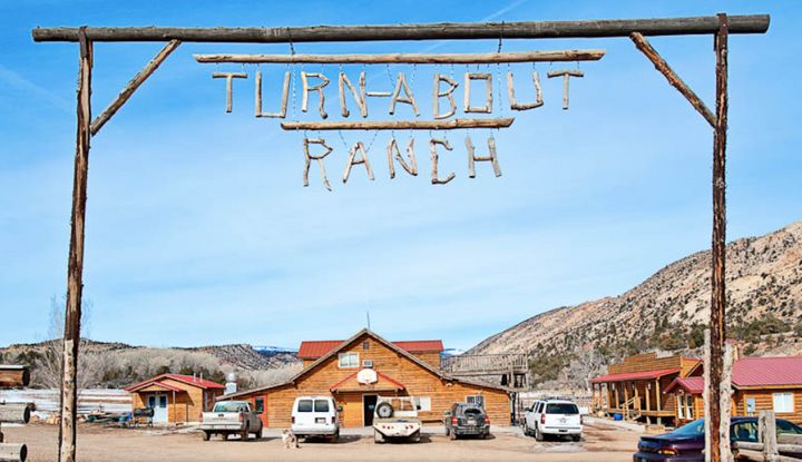 The entrance to Utah's Turn-About Ranch.