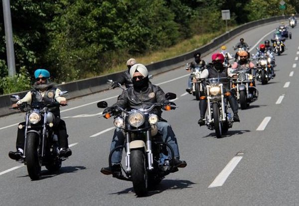 "A group of Sikh motorcycle enthusiasts in British Columbia, Canada, hit the road in July to <a href=""http://www.huffingt"