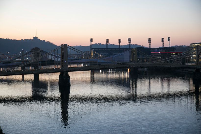 <em>Downtown Pittsburgh at sunset</em>