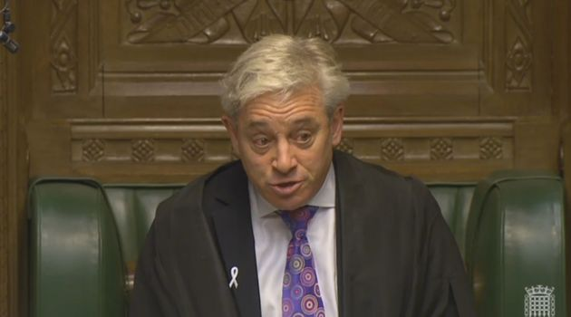 Speaker John Bercow was in