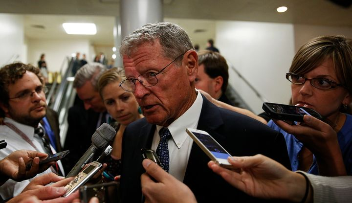 "Keynote speaker Sen. James Inhofe said climate change deniers ""are winning this thing very clearly."""