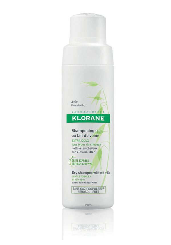 It's time to break out the dry shampoo. Try a powder formula, which gives you more control than a spray. The key is to use it