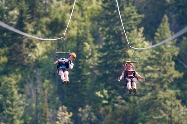"<a href=""http://www.cloud9living.com/austin/zipline-canopy-tour"" target=""_blank"">Take a zipline canopy tour</a> in Spicewood,"