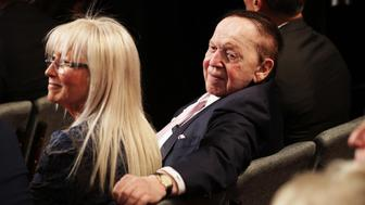 LAS VEGAS, NV - OCTOBER 19: Sheldon Adelson attends the third U.S. presidential debate at the Thomas & Mack Center on October 19, 2016 in Las Vegas, Nevada. Tonight is the final debate ahead of Election Day on November 8.  (Photo by Chip Somodevilla/Getty Images)