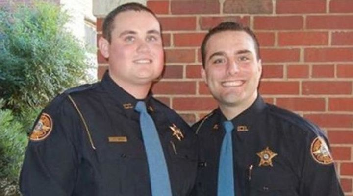 Officers Jody Smith (left) and Nicholas Smarr.