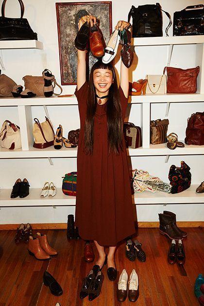 "<p><em>Model's own dress and jewelry;</em> <a rel=""nofollow"" href=""http://www.edithmachinist.com/"" target=""_blank"">Edith Machinist</a> <em>vintage shoes.</em></p>"