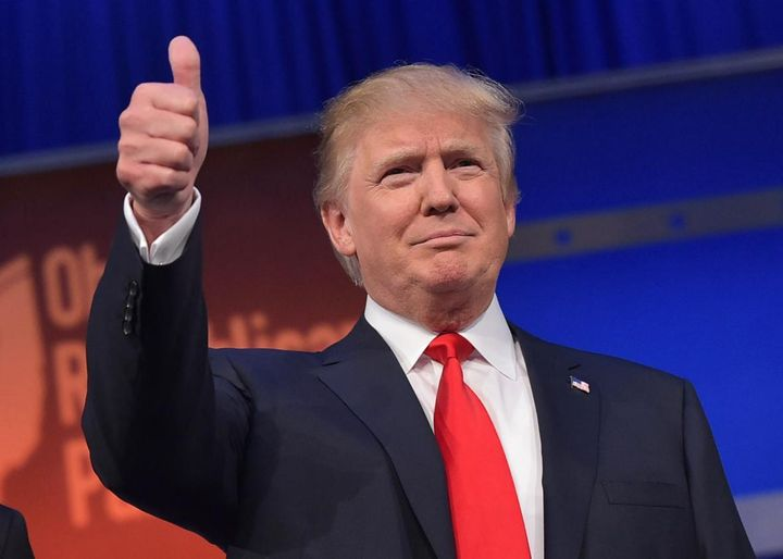 Donald Trump Flashes Thumbs Up