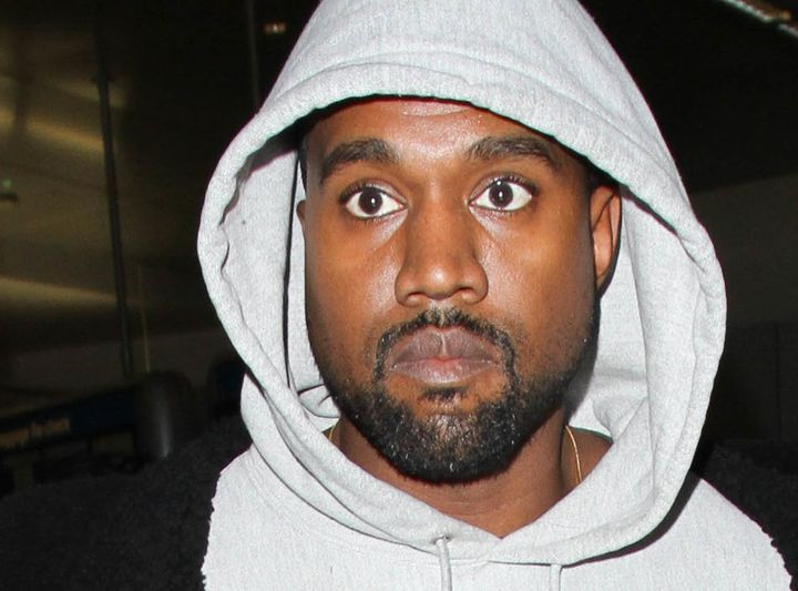 Kanye West seen at LAX days before his hospitalization.
