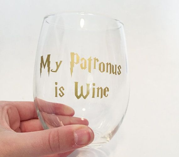 "$9.00, Sami Maurer Designs. <a href=""https://www.etsy.com/listing/483984914/my-patronus-is-wine-harry-potter?ga_order=most_re"