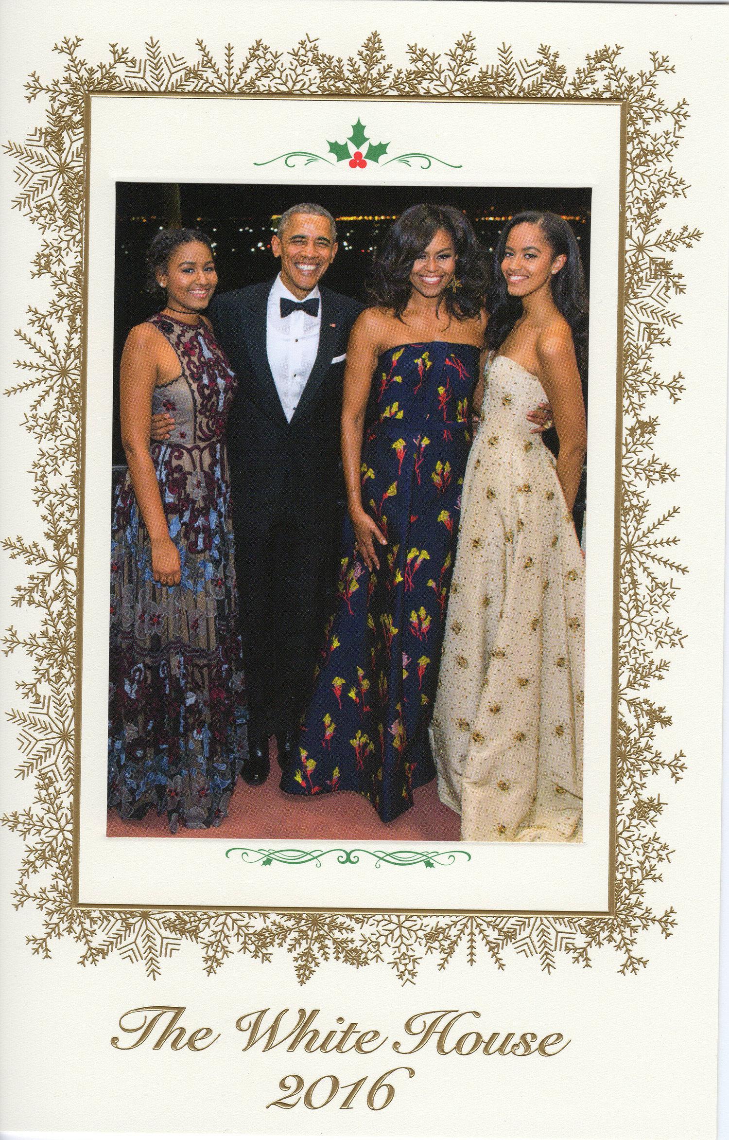 Obama family christmas card