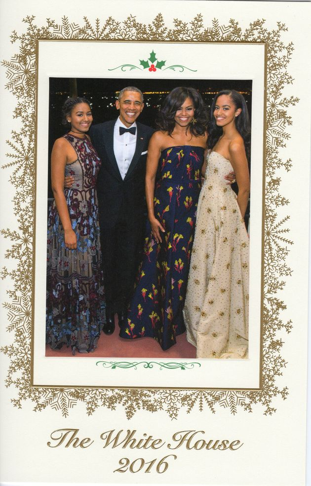 Image result for Obama family last Christmas Card from the White House