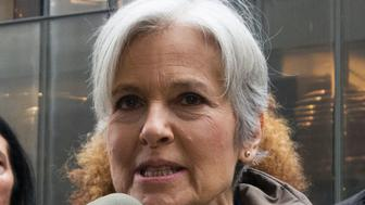 Green Party presidential candidate Jill Stein speaks at a news conference in front of Trump Tower as she discusses her presidential recount efforts December 5, 2016 in New York. / AFP / Don EMMERT        (Photo credit should read DON EMMERT/AFP/Getty Images)
