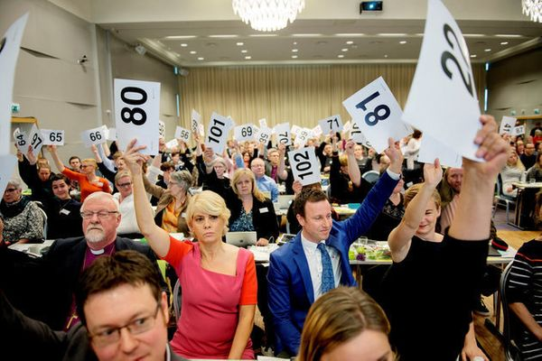 "Norway's Lutheran Church <a href=""http://www.huffingtonpost.com/entry/norway-church-same-sex-marriage_us_570bdfb8e4b014"